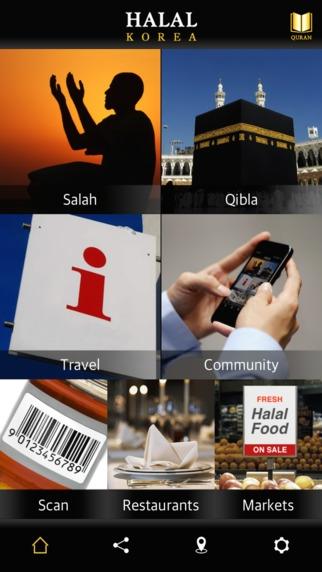 Menu app Halal Korea