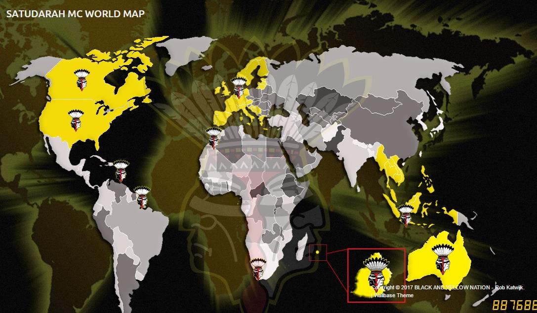 Sebaran geng Satudarah MC di dunia - setara.net