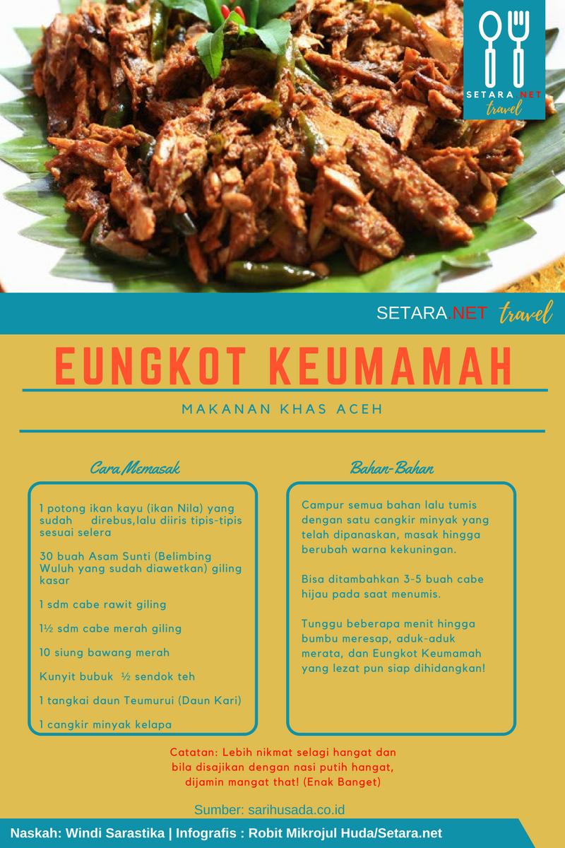 Resep dan Cara Membuat Eungkot Keumamah Khas Aceh