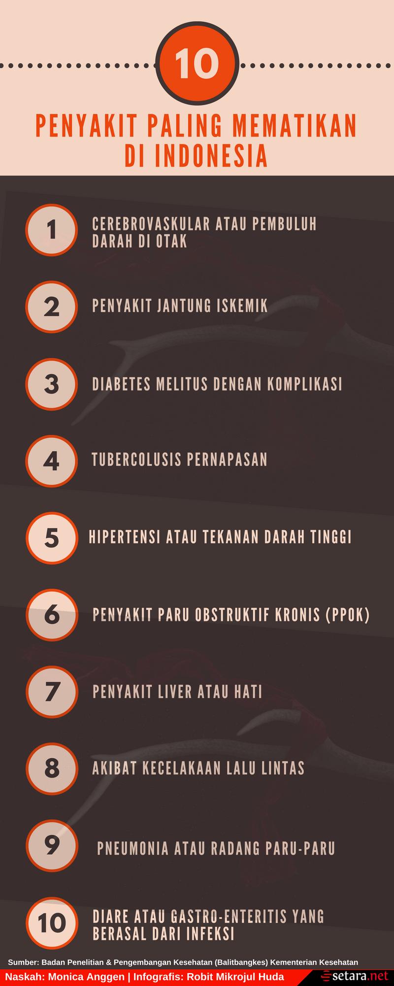 10 Penyakit Paling Mematikan di Indonesia (2)