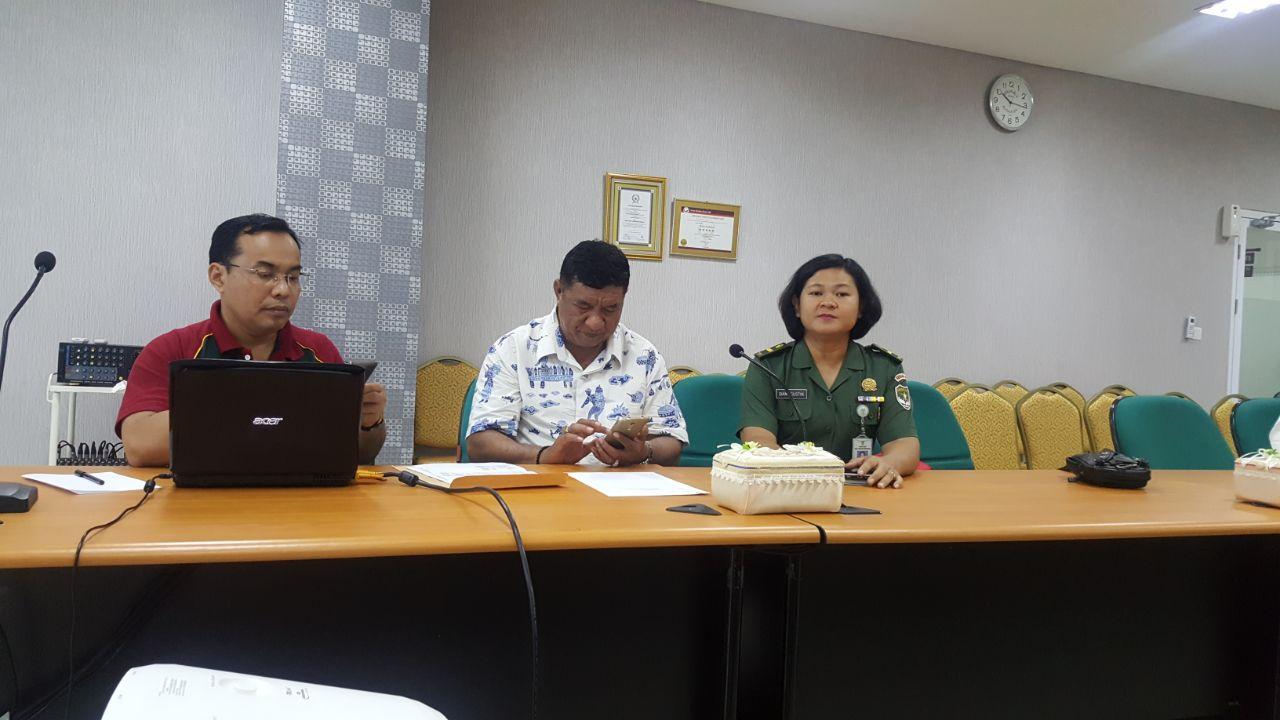 Rapat persiapan turnamen tenis meja dalam rangka peringatan 1 tahun perpindahan RS Moh Ridwan Meuraksa