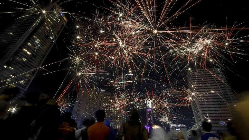perayaan tahun baru 2017 di Jakarta