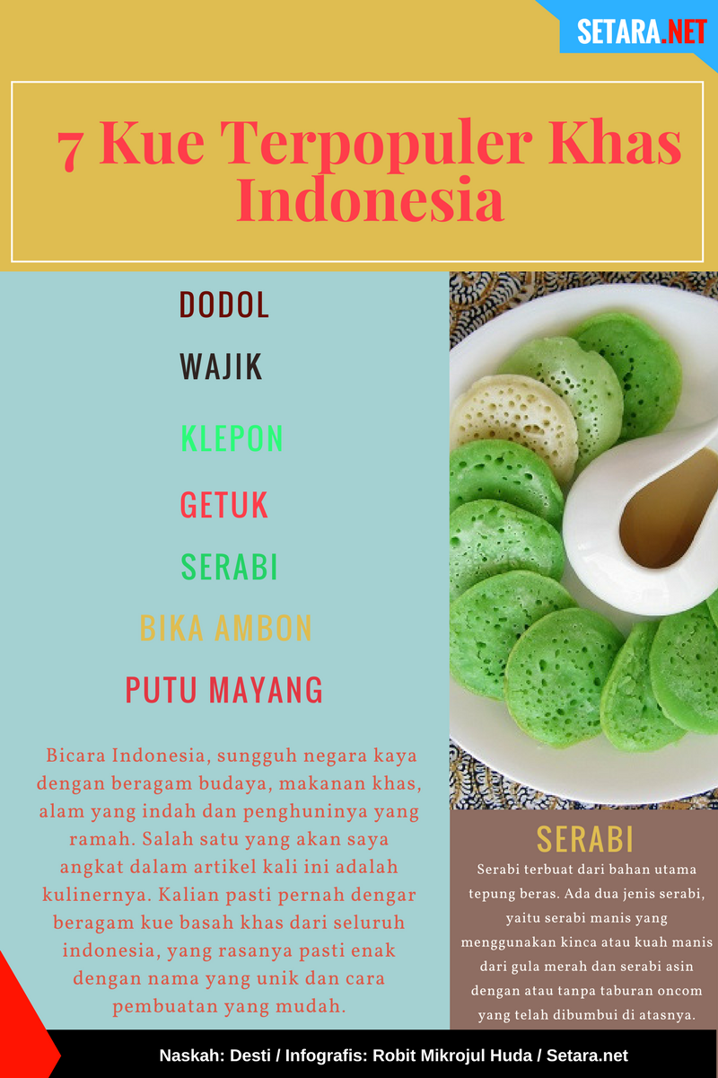 Kue khas Indonesia (Nusantara)