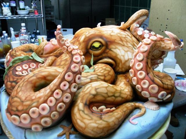 kue berbentuk gurita