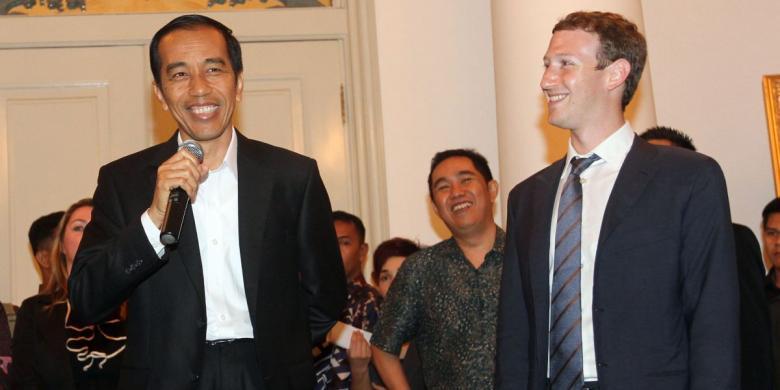 Jokowi dan Mark Zuckerberg
