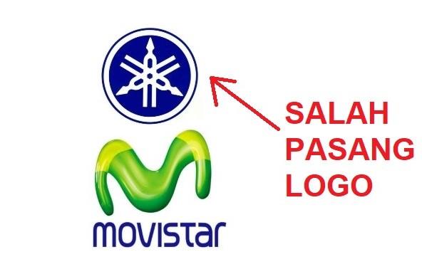 YAMAHA salah pasang logo