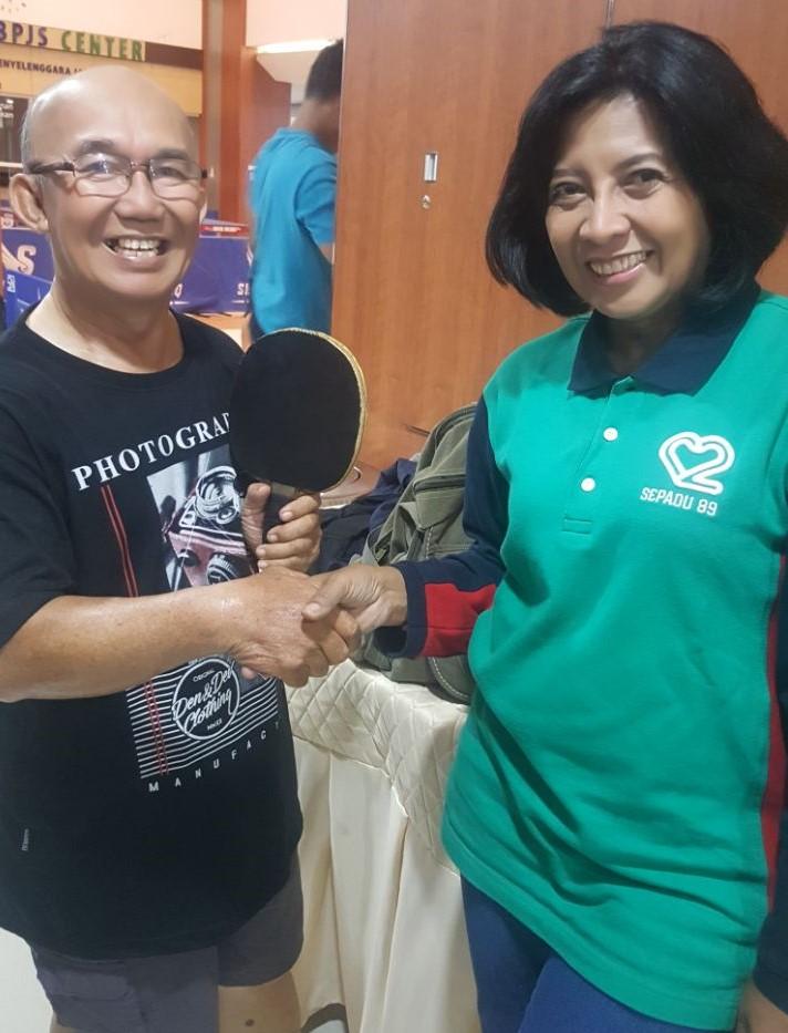 Karumkit MRM menyambut Atlet senior Amonius Zebua