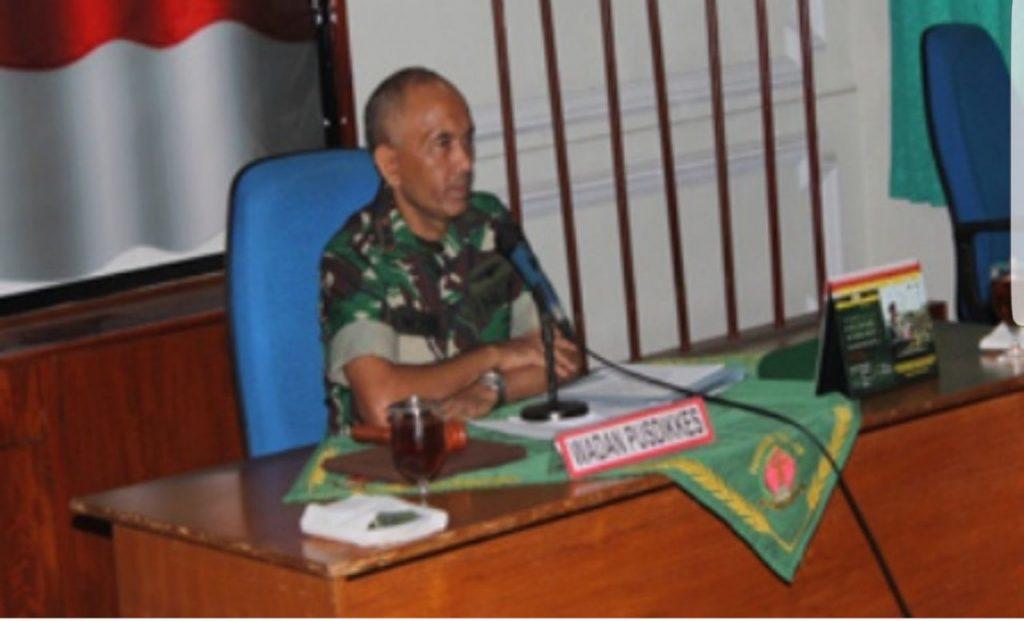 Letkol Ckm dr. I Nyoman Linggih saat menjabat sebagai Wadan Pusdikkes